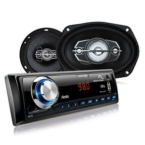 Kit Som automotivo MP3 Wave + 2 Alto falantes 6 polegadas 60W RMS + 2 Alto Falantes 6x9 polegadas 110W RMS Multilaser AU952