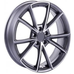 Jogo Roda Audi Giasone Aro 18 (5X100/ET39,5) - Grafite Diamantado Fosco - Conjunto 4 Rodas