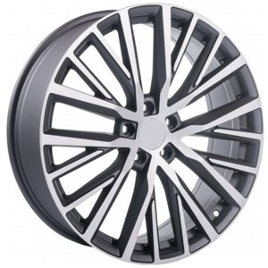 Jogo Roda Volkswagen Passat CC 2015 Aro 20 (5X112/ET45) - Grafite Diamantado Fosco - Conjunto 4 Rodas