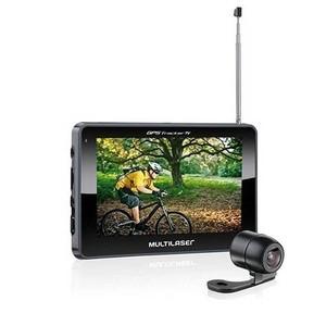 GPS Multilaser Tracker III Tela 4,3 polegadas com Câmera de Ré, TV e Rádio FM GP035