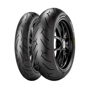 Jogo de 2 Pneus de Moto Pirelli Diablo Rosso II 110/70R17 54H + 140/70R17 66H TL