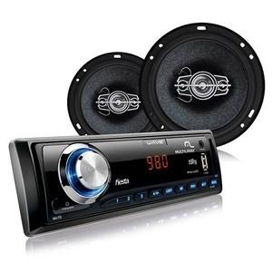 Kit Som automotivo MP3 Wave + 2 Alto falantes 6 polegadas 60W RMS + 2 Alto Falantes 5 polegadas 50W RMS Multilaser AU951