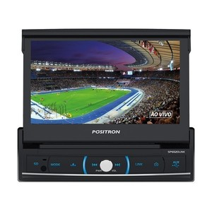 DVD Player Pósitron SP6520 Link Retrátil LCD 7 polegadas - Touch, Bluetooth, Entrada Auxiliar