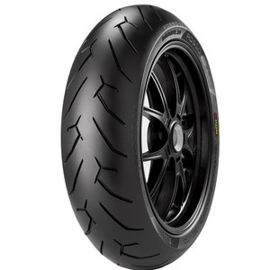 Pneu de Moto Pirelli Aro 17 Diablo Rosso II 190/55R17 75W TL - Traseiro