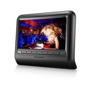 DVD Player de descanso de cabeça Preto 9 polegadas Multilaser AU705