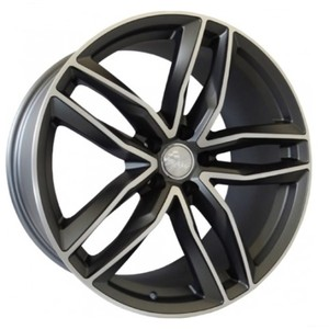 Jogo Roda Audi RS6 Aro 20 (5X112/ET42) - Grafite Diamantado Fosco - Conjunto 4 Rodas