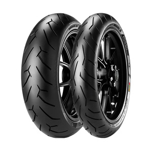 Jogo de 2 Pneus de Moto Pirelli Diablo Rosso II 120/70R17 58W + 180/55R17 73W TL