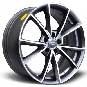 Jogo Roda Audi RS4 Aro 18 (5X112/ET32) - Grafite Diamantado Fosco - Conjunto 4 Rodas
