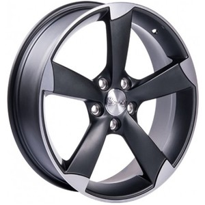 Jogo Roda Audi RS-5 Aro 19 (5X112/ET35) - Grafite Diamantado Fosco - Conjunto 4 Rodas