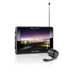 GPS Multilaser Tracker III Tela 5 polegadas com Câmera de Ré, TV e Radio FM GP037