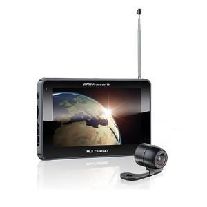 GPS Multilaser Tracker III Tela 7 polegadas com Câmera de Ré, TV e Radio FM GP039