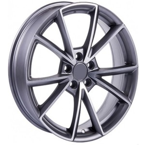 Jogo Roda Audi Giasone Aro 19 (5X112/ET43) - Grafite Diamantado Fosco - Conjunto 4 Rodas