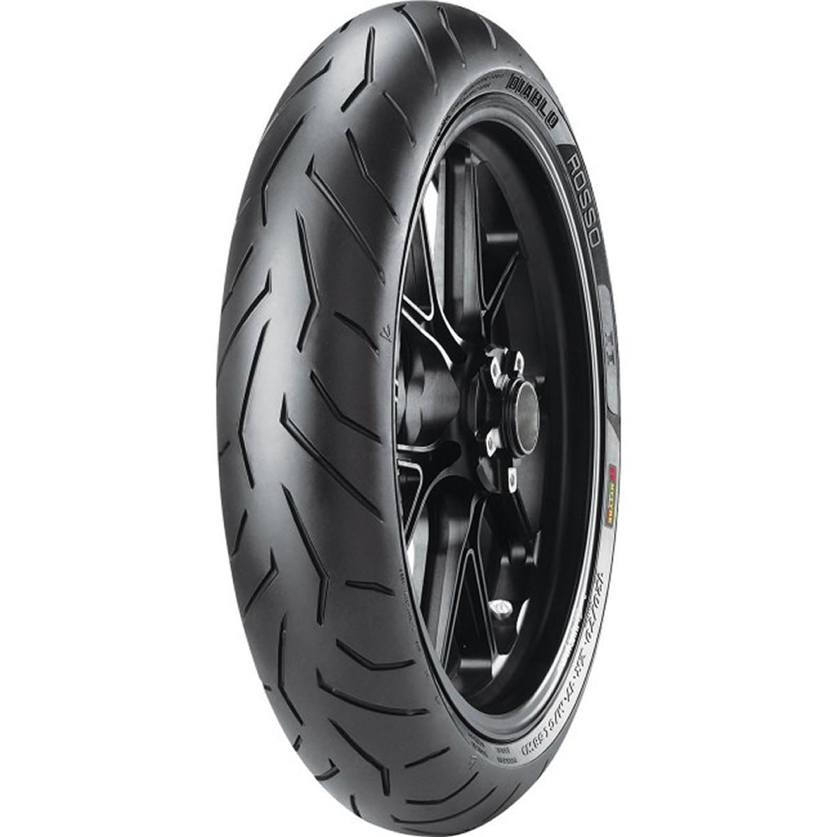 Pneu de Moto Pirelli Aro 17 Diablo Rosso II 120/70R17 58W TL - Dianteiro