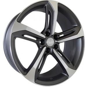 Jogo Roda Audi RS7 Aro 19 (5X112/ET32) - Grafite Diamantado Fosco - Conjunto 4 Rodas