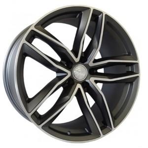 Jogo Roda Audi RS6 Aro 19 (5X112/ET35) - Grafite Diamantado Fosco - Conjunto 4 Rodas