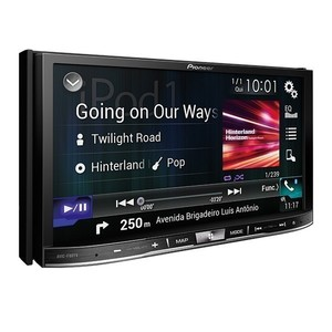 Central Multimídia Pioneer AVIC-F80TV - 7 polegadas 2DIN, Bluetooth, Navegador GPS, TV Digital