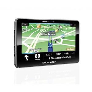 GPS Multilaser Tracker II Tela 7 polegadas com TV e Rádio FM GP015