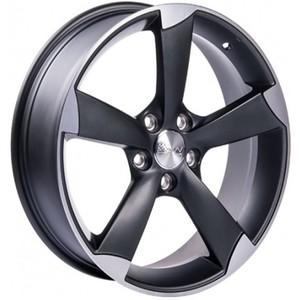 Jogo Roda Audi RS-5 Aro 18 (5X112/ET35) - Grafite Diamantado Fosco - Conjunto 4 Rodas
